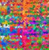 数字式绘画摘要五颜六色的混乱飞溅声油漆在充满活力的明亮的淡色背景中 皇族释放例证