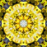 数字式绘画摘要五颜六色的花卉坛场背景 皇族释放例证