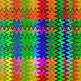 数字式绘画摘要混乱波浪三角样式在淡色背景中 皇族释放例证