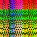 数字式绘画摘要混乱波浪三角样式在淡色背景中 库存例证