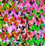 数字式绘画摘要混乱飞溅声刷子油漆在生动的充满活力的五颜六色的淡色背景中 皇族释放例证
