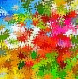 数字式绘画摘要混乱飞溅声油漆在五颜六色的充满活力的明亮的淡色背景中 库存例证