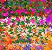 数字式绘画摘要混乱飞溅声油漆在五颜六色的充满活力的明亮的颜色背景中 向量例证