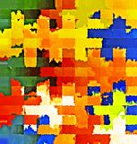 数字式绘画摘要飞溅声刷子油漆混乱长方形样式在五颜六色的淡色背景中 库存例证