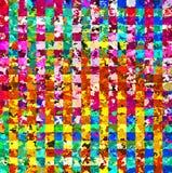 数字式绘画摘要飞溅声刷子油漆混乱长方形样式在五颜六色的淡色背景中 皇族释放例证