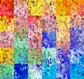 数字式绘画摘要飞溅声刷子油漆混乱长方形样式在五颜六色的淡色背景中 向量例证