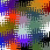 数字式绘画摘要飞溅声刷子油漆混乱长方形样式在五颜六色的黑暗的淡色背景中 向量例证