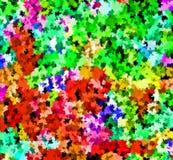 数字式绘画摘要飞溅声油漆在五颜六色的生动的充满活力的多淡色背景中 皇族释放例证