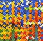数字式绘画摘要飞溅声油漆混乱波浪三角样式在淡色背景中 皇族释放例证