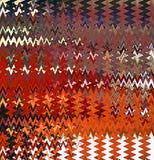 数字式绘画摘要飞溅声油漆混乱波浪三角样式在淡色背景中 库存例证