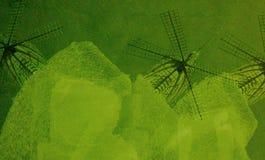 数字式绿色刷子冲程背景艺术  免版税图库摄影