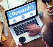 数字式网上奖励赢利办公室运作的概念 免版税库存照片