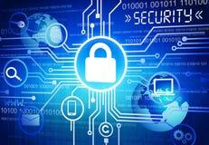 数字式网上安全概念的引起的图象 免版税库存照片