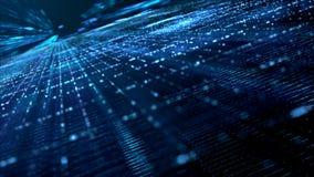 数字式网络空间粒子 免版税库存图片