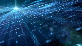 数字式网络空间粒子 向量例证