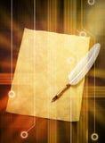 数字式翎毛钢笔背景 皇族释放例证