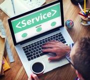 数字式联机服务协助办公室运作的概念 免版税库存照片