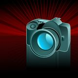 数字式背景照相机 向量例证