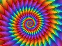 数字式艺术催眠抽象彩虹螺旋背景 免版税库存照片