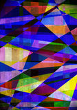 数字式艺术性的油漆刷背景 向量例证