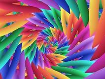 数字式艺术摘要柔和的淡色彩色的彩虹螺旋背景 库存照片