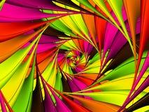 数字式艺术摘要柠檬绿和桃红色螺旋背景 免版税库存照片
