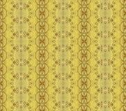 数字式艺术设计无缝的玻璃状黄色花 免版税库存照片