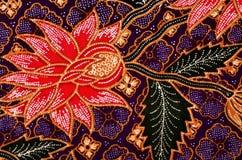 数字式花卉艺术蜡染布 库存照片