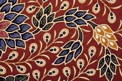 数字式花卉艺术蜡染布 免版税库存图片