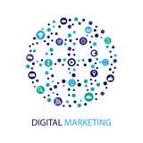 数字式营销例证 平的设计 库存照片