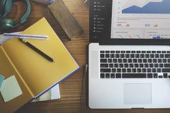 数字式营销数据信息财务概念 免版税库存照片