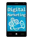 数字式营销智能手机 免版税库存照片
