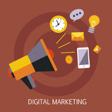 数字式营销概念艺术 库存图片