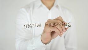 数字式营销,写在玻璃 免版税库存照片