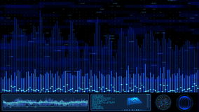 数字式蓝色Hud屏幕 股票视频