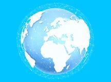 数字式行星地球& x27; 3D rendering& x27; 库存照片