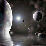 数字式行星 库存图片