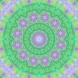 数字式被创造的坛场适用于在浅绿色和小野鸭颜色的meditational 图库摄影
