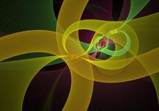 数字式被生成的图象 五颜六色的分数维,典雅,精美扭转的丝带样式 库存照片