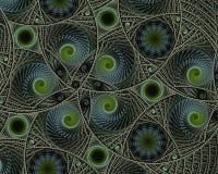 数字式被生成的图象 五颜六色的分数维,典雅,精美扭转的螺旋留下样式 图库摄影