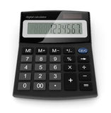 数字式计算器 皇族释放例证