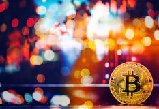 数字式金钱Bitcoin是现代贸易或现代货币exc的 免版税库存图片