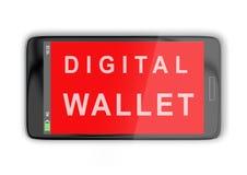 数字式钱包概念 免版税库存照片