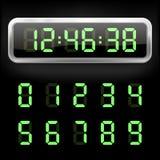 数字式闹钟 也corel凹道例证向量 皇族释放例证