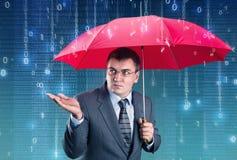数字式雨 免版税库存图片