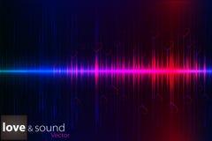数字式音乐爱调平器 也corel凹道例证向量 图库摄影