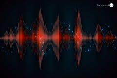 数字式音乐红色调平器 也corel凹道例证向量 图库摄影