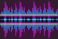 数字式音乐调平器 也corel凹道例证向量 免版税库存照片