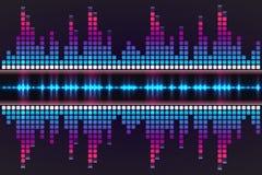 数字式音乐调平器 也corel凹道例证向量 库存图片