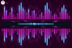 数字式音乐调平器 也corel凹道例证向量 免版税图库摄影